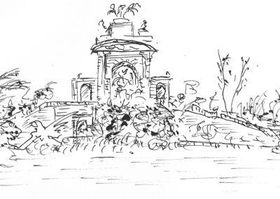 Cascada del Parque de la Ciudadela