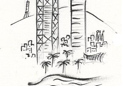 Torres puerto olimpico